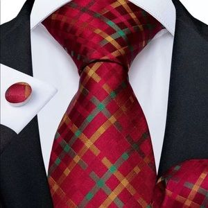 Other - Green and Red Plaid Tie Set